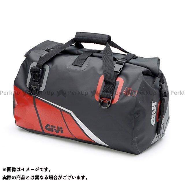 GIVI ツーリング用バッグ EA115BY 防水ボストンバッグ 40L(ブラック×レッド) ジビ