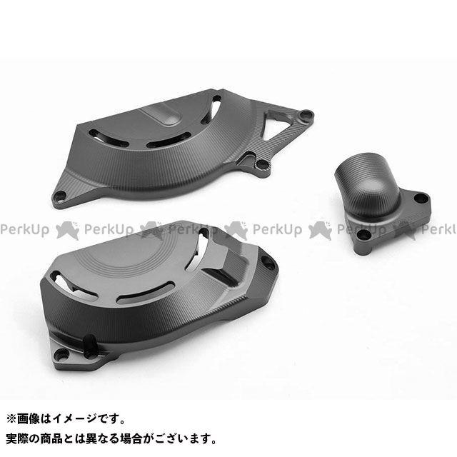 【特価品】RIDEA ニンジャ250 ニンジャ400 エンジンカバー関連パーツ アルミ削り出しエンジンカバー セット(チタン) リデア
