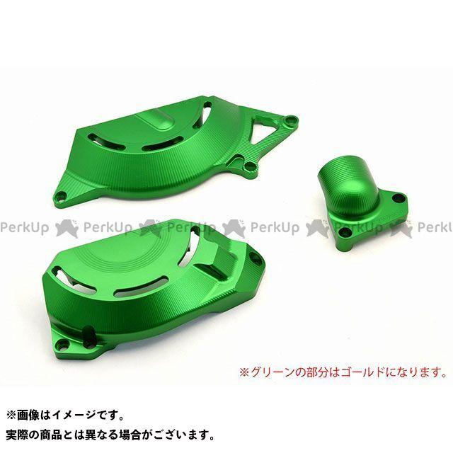 【特価品】RIDEA ニンジャ250 ニンジャ400 エンジンカバー関連パーツ アルミ削り出しエンジンカバー セット(ゴールド) リデア