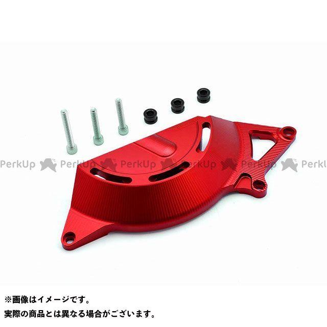 RIDEA ニンジャ250 ニンジャ400 エンジンカバー関連パーツ アルミ削り出しエンジンカバー 右後(レッド)  リデア