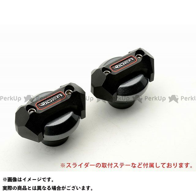 RIDEA GSX-S125 スライダー類 フレームスライダー メタリックタイプ(チタン)  リデア