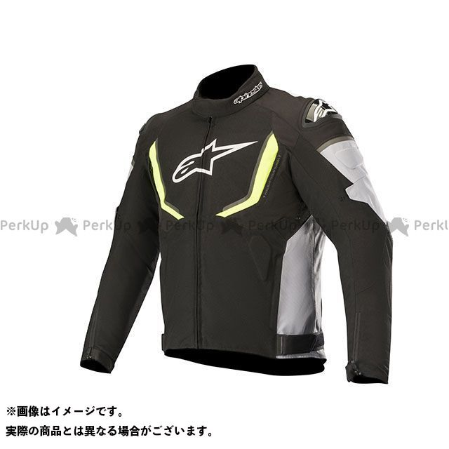 Alpinestars ジャケット T-GP R ウォータープルーフ ジャケット(ブラック/グレー/イエローフロー) サイズ:L Alpinestars