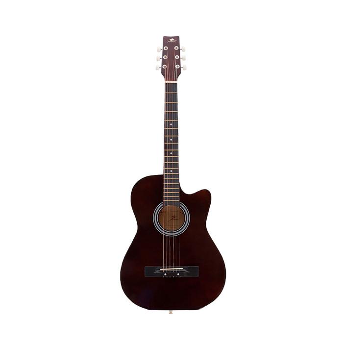 アコースティックギター MU004 ブラウン カッタウェイ アコギ