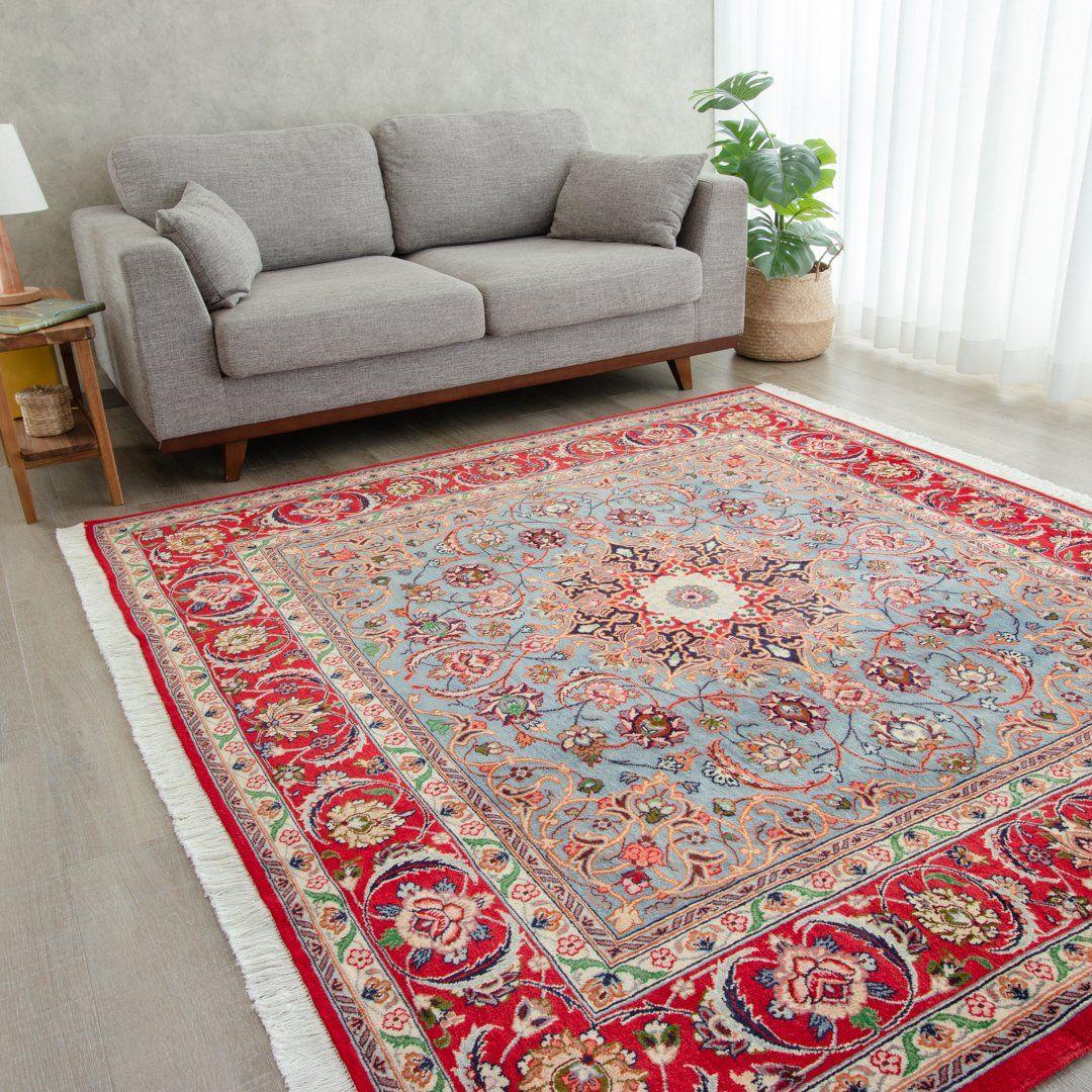 本場イラン産 186×207cm ペルシャ絨毯 正方形サイズS 送料無料 初売り 手織り 天然染料 かわいい ウール100% CHAI 高額売筋 ラグ おしゃれ 絨毯 チャイ ペルシャ