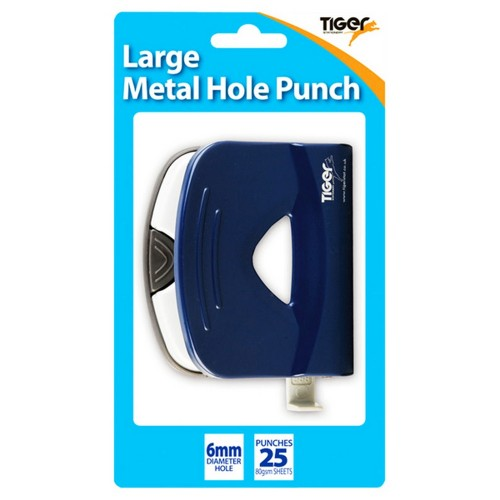 Tiger 6 mm Single Hole Metal Paper Punch