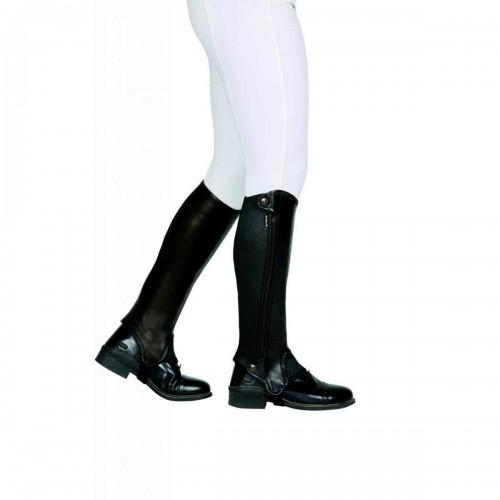 (ダブリン) Dublin ユニセックス Evolution サイドファスナー レザー ハーフチャップス 乗馬 ホースライディング 【海外直送】
