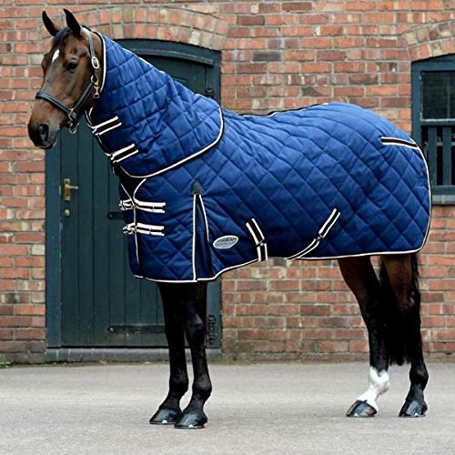 (ウェザビータ) Weatherbeeta 馬用 Comfitec ミディアム 1000D ダイアモンドキルト ネックが外せる ステーブルラグ 馬着 乗馬 ホースライディング 【海外直送】