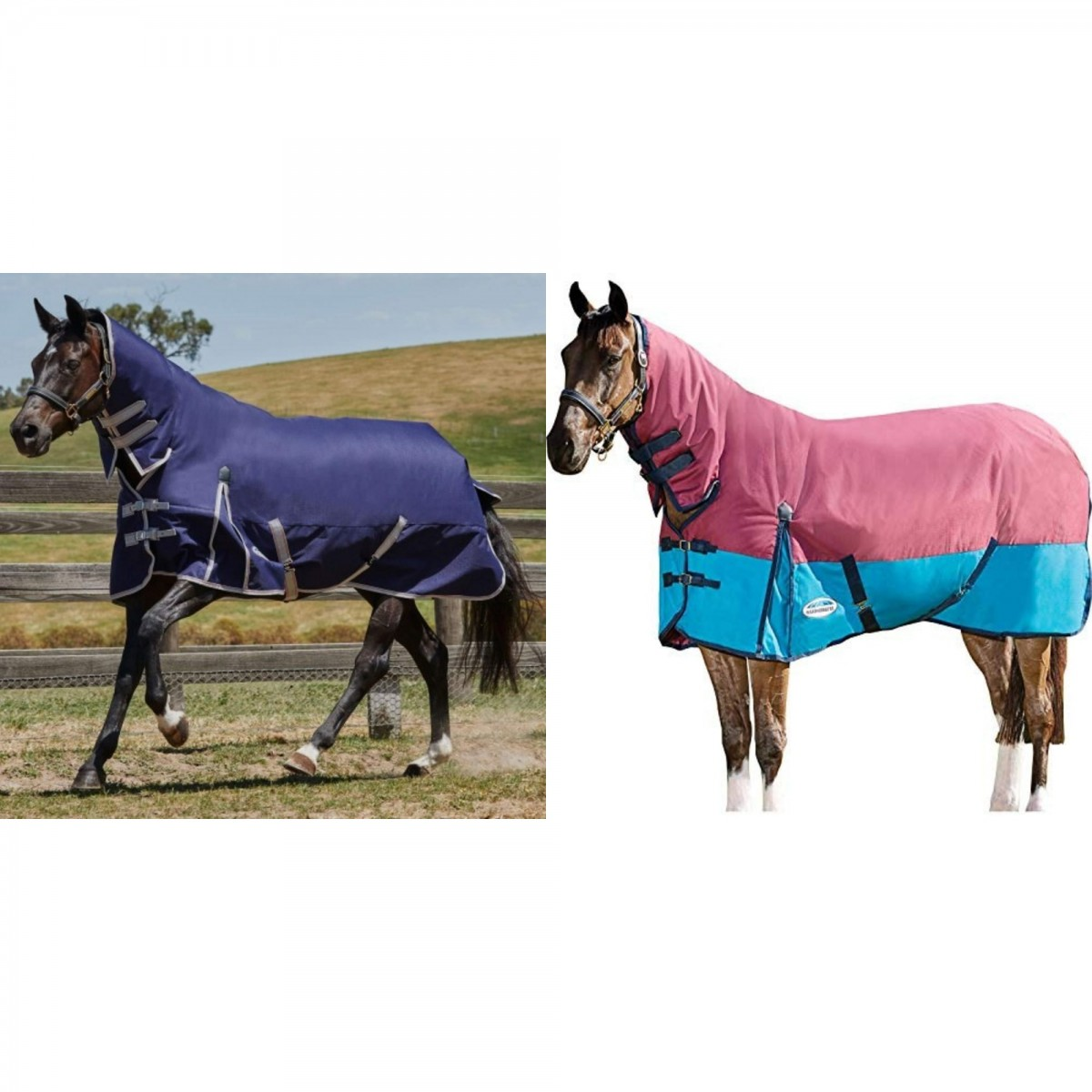 (ウェザビータ) Weatherbeeta 馬用 Comfitec ヘビー エッセンシャル コンボ ネックカバー付き ターンアウトラグ 馬着 ホースライディング 【海外直送】