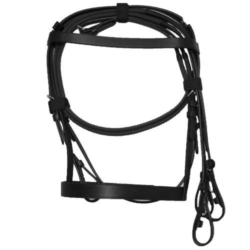 (カレッジエイト) Collegiate 馬用 Hunt カブソン レザー ブライドル IV 頭絡 乗馬 ホースライディング 【海外直送】
