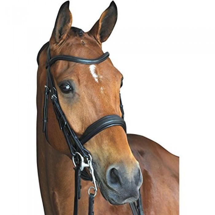 (カレッジエイト) Collegiate 馬用 モノクラウン パッド入り 厚手 レザー ウェイマス ブライドル 頭絡 馬具 乗馬 ホースライディング 【海外直送】