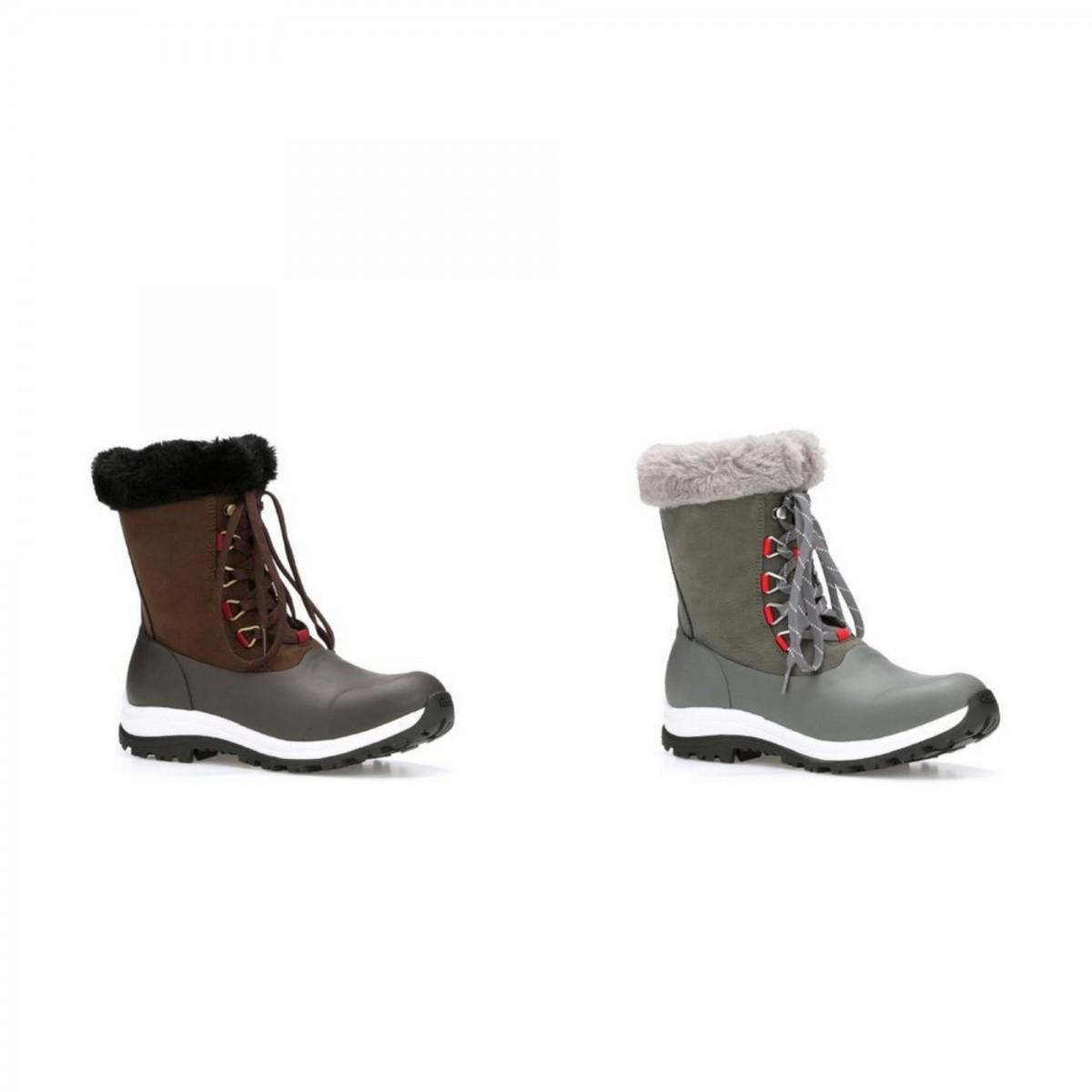 (マックブーツ) Muck Boots レディース Arctic Apres レースアップ ミドル ブーツ 婦人靴 カジュアル アウトドア シューズ 女性用 【海外直送】