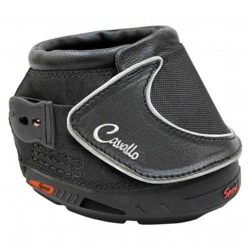 (カヴァロ) Cavallo 馬用 シンプル 面ファスナー留め ホースブーツ 保護 プロテクター FOC フーフピンク・ブラシ付き 乗馬 (1ペア) 【海外直送】