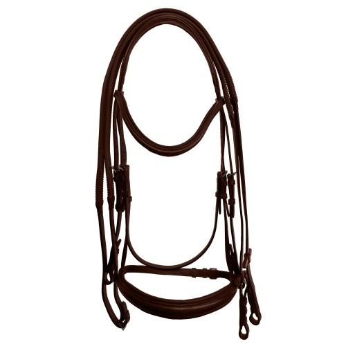 (カレッジエイト) Collegiate 馬用 モノ クラウン パッド入り ライズドレザー カブソン ブライドル 頭絡 馬具 乗馬 ホースライディング 【海外直送】