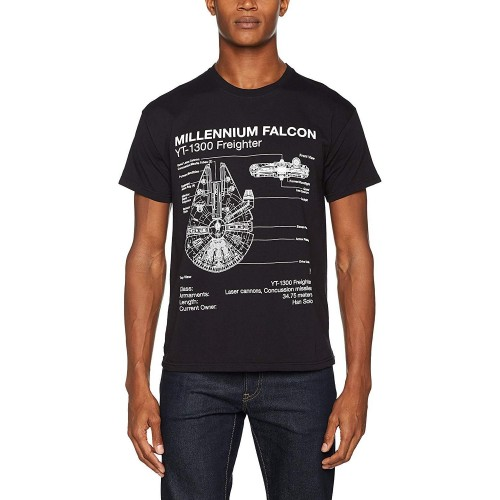 T-Shirt Homme Star Wars Falcon Blueprint