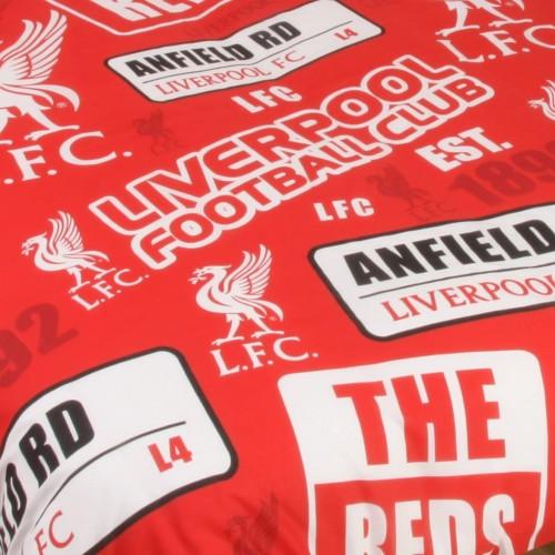 リバプール フットボールクラブ Liverpool FC オフィシャル商品 Patch 掛け布団カバー・枕カバーセット 【海外直送】