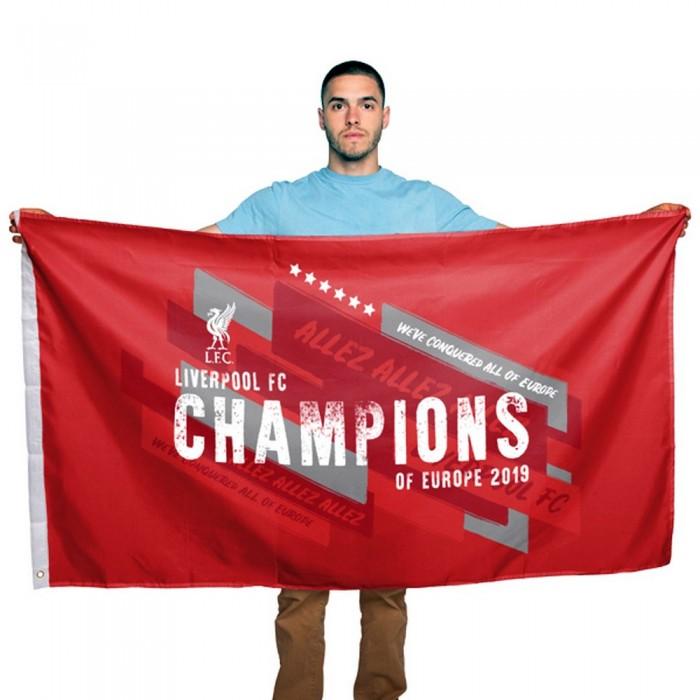 リバプール フットボールクラブ Liverpool FC オフィシャル商品 Champions Of Europe フラッグ 応援旗 【海外直送】