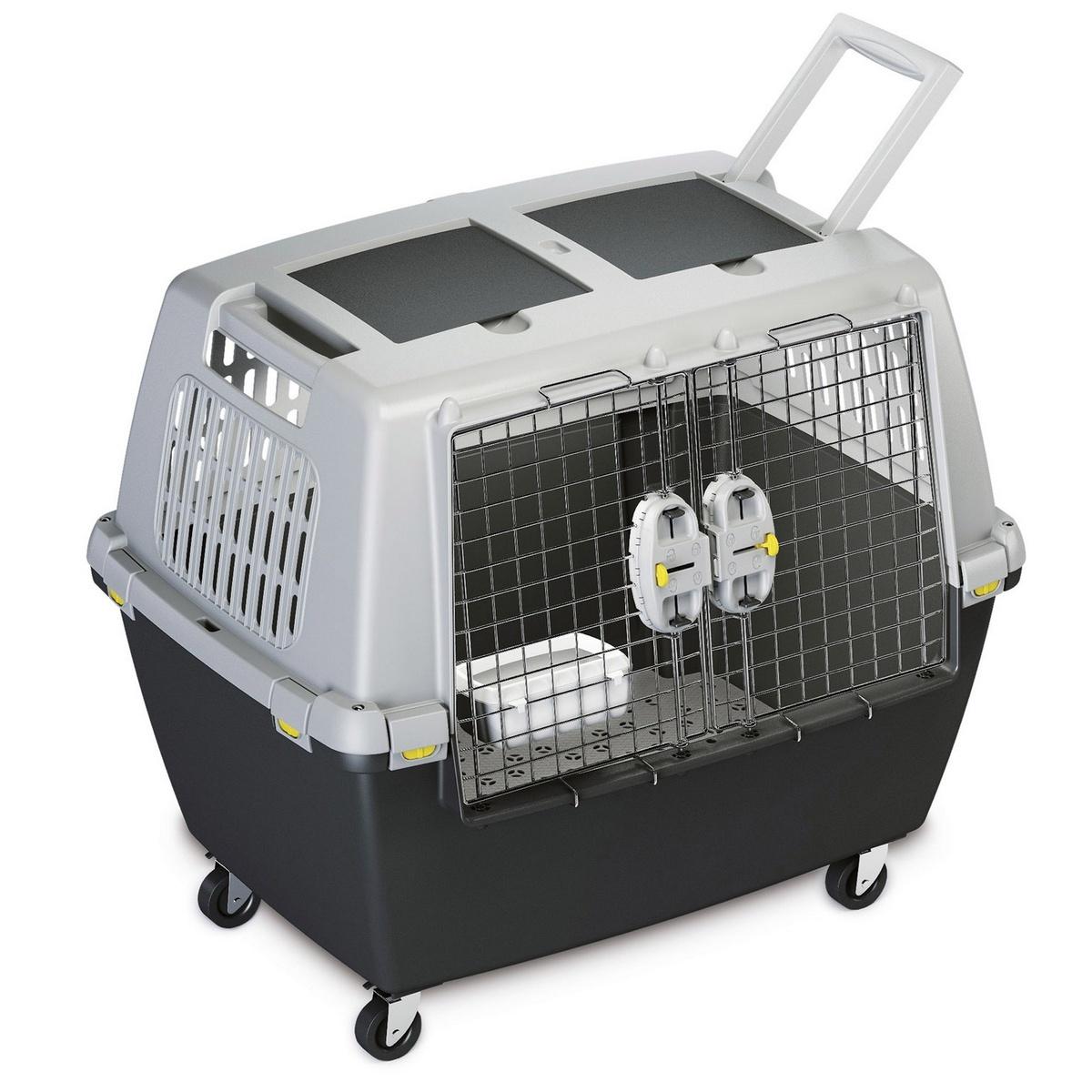 プラスチックケージ お出かけ プラスチックコンテナ 犬 猫 キャリーバッグ ステファンプラスト Stefanplast 犬猫用 ツインペットキャリー 海外直送 格安激安 2ドア lata ツーリング ガリバー トラベル SALE開催中 80 ペットキャリー