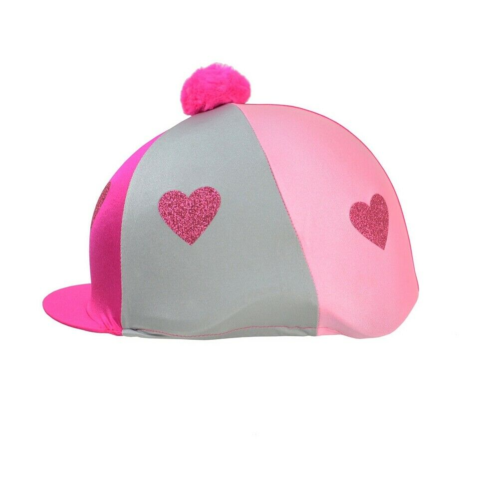 馬術ウェア 馬術アクセサリー 競技会用 ヘルメット帽子 乗馬キャップ マーケティング ハイ HyFASHION キッズ ヘルメットカバー ハットカバー 子供用 女の子 お買い得 Glitter Hearts 海外直送