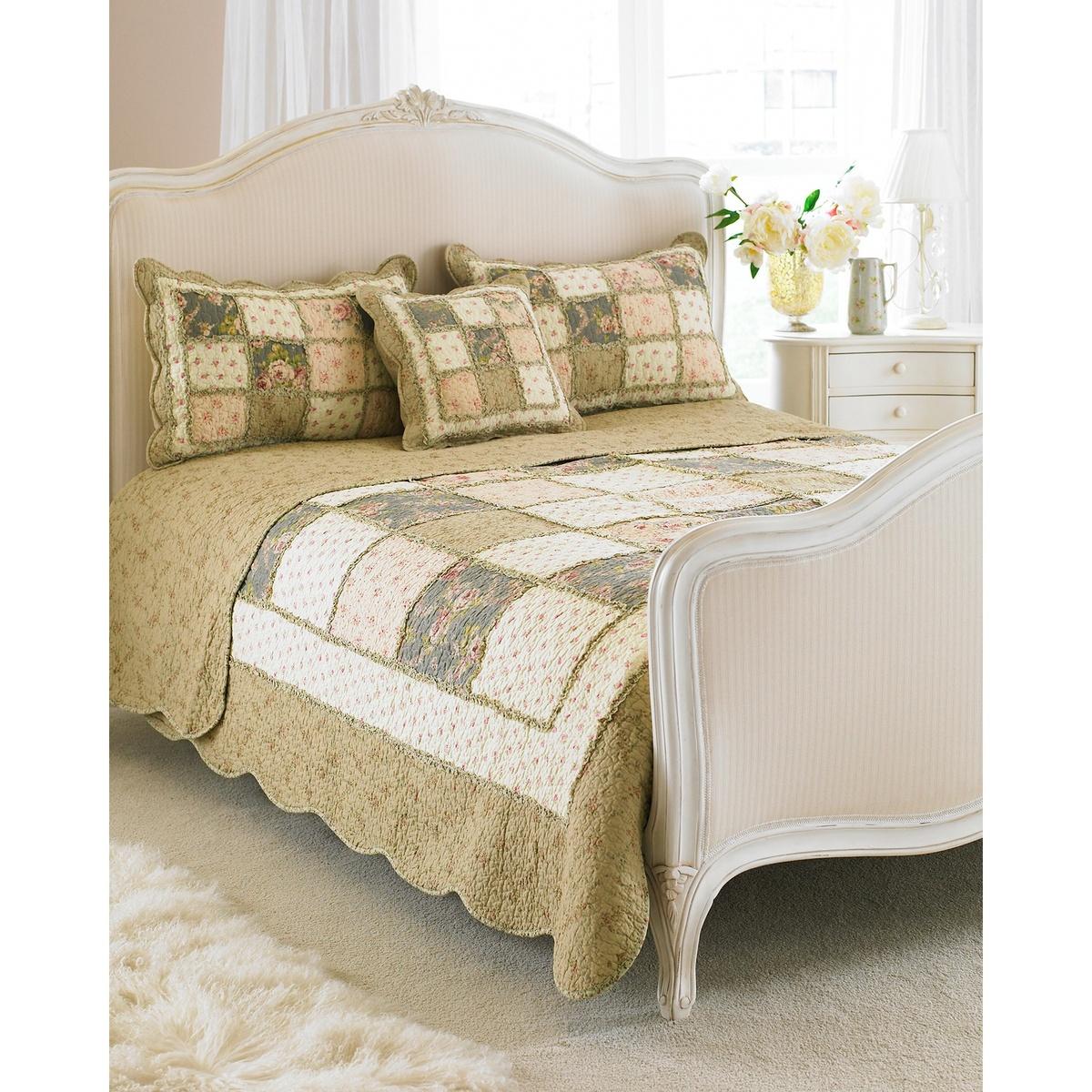 (リーヴァ・ホーム) Riva Home アヴィニョン ベッドスプレッド ベッドカバー(装飾用) フローラル 花柄 ベッド掛け 【海外直送】