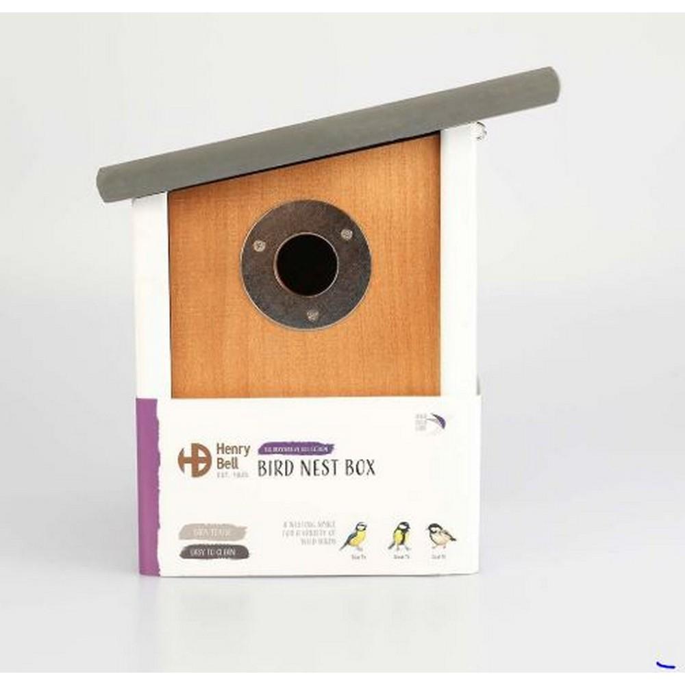 野鳥観察 巣箱 バードネスト 庭 置物 ヘンリー ベル Henry セール 海外直送 野鳥用 特売 ネストボックス スロープルーフ Bell Elegance