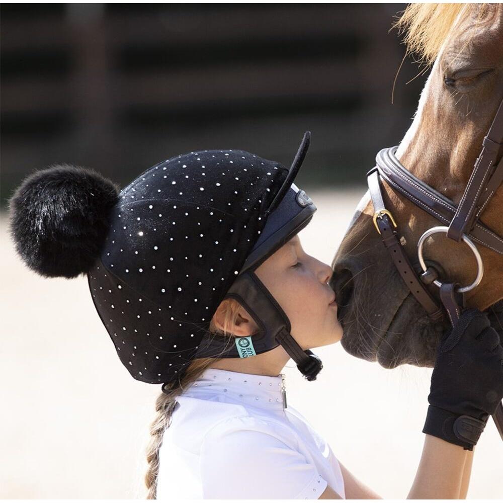 シルク 買い取り 2020A/W新作送料無料 帽子カバー 馬術 競技会 ホースライディング シャイアズ ハットカバー ベルベット Shires 乗馬 海外直送 スパークル