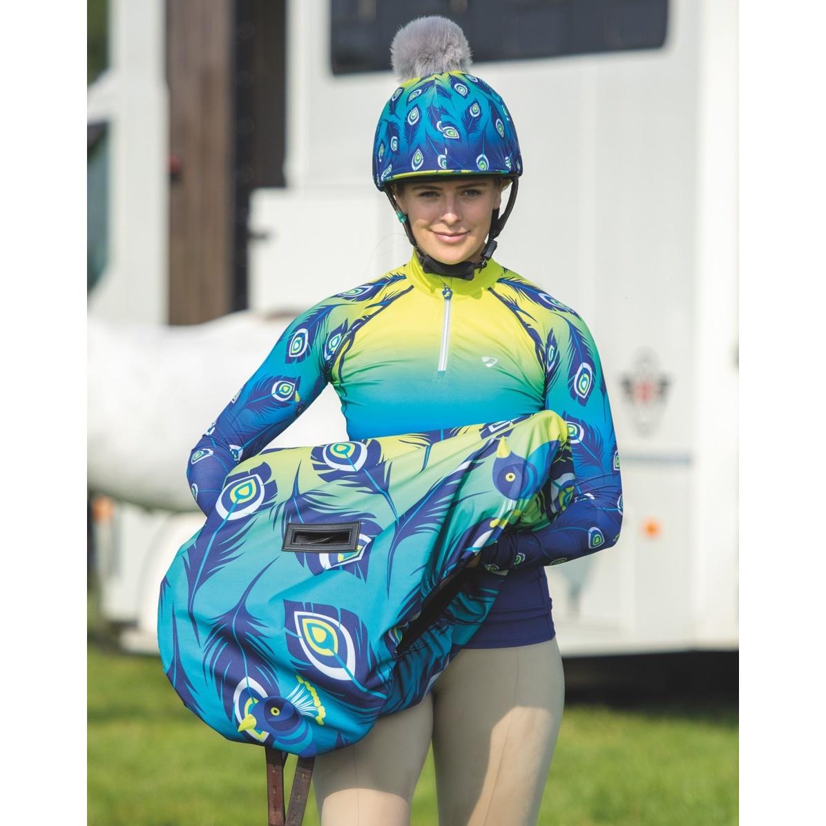 シルク 上質 帽子カバー 馬術 競技会 ホースライディング オーブリオン Aubrion 乗馬 Hyde 送料無料(一部地域を除く) ピーコック ユニセックス ハットカバー Park 海外直送
