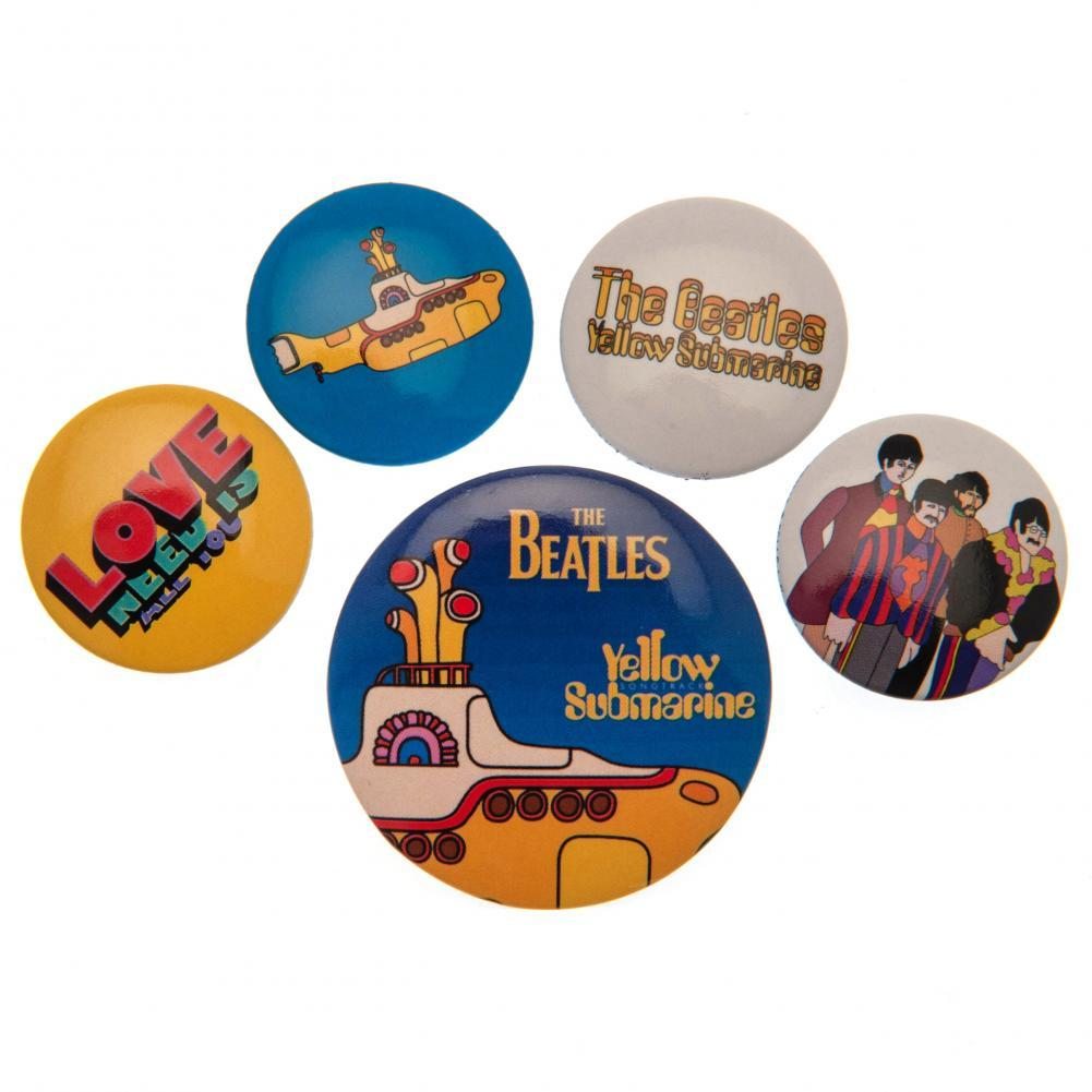 キャラクターグッズ 缶バッジ バッジ ピンバッジ アクセサリー ザ ビートルズ 高品質新品 大規模セール セット Beatles 海外直送 The オフィシャル商品 5個組