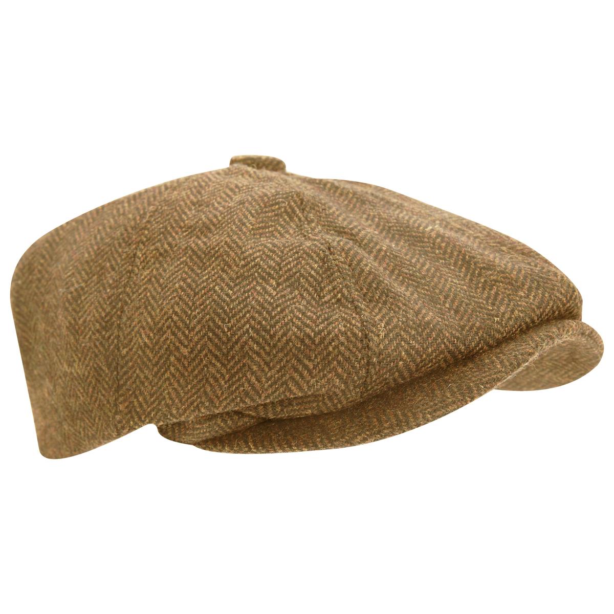 フラットキャップ ハンチング フェードラ カジュアル 中折れ帽 メンズ ウールブレンド ヘリンボーン キャスケット 感謝価格 8パネル 割り引き ニュースボーイキャップ 帽子 ハット 秋冬 男性用 海外直送