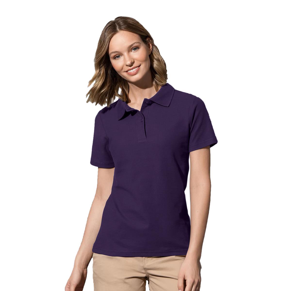 ゴルフ 18%OFF ユニフォーム 制服 スポーツ 鹿の子 ステッドマン Stedman コットン レディース 海外直送 ポロシャツ 半袖 送料無料新品 無地