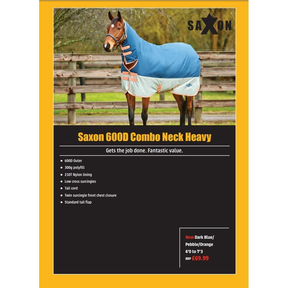 (サクソン) Saxon 馬用 600D コンボネック ヘビーIV ターンアウトラグ 馬着 乗馬 ホースライディング 【海外直送】