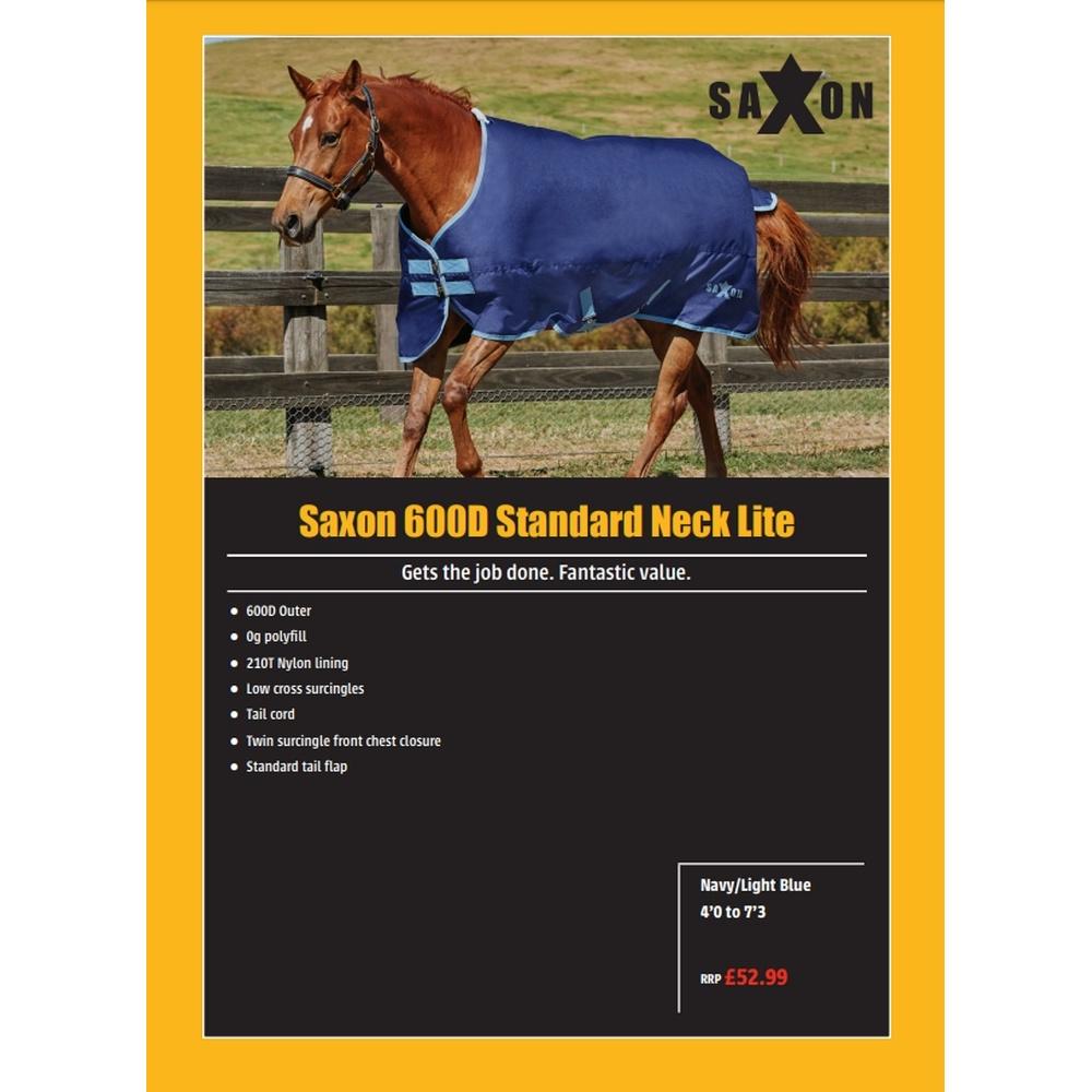 (サクソン) Saxon 馬用 600デニール スタンダードネック ライト IV ラグ 馬着 乗馬 ホースライディング 【海外直送】