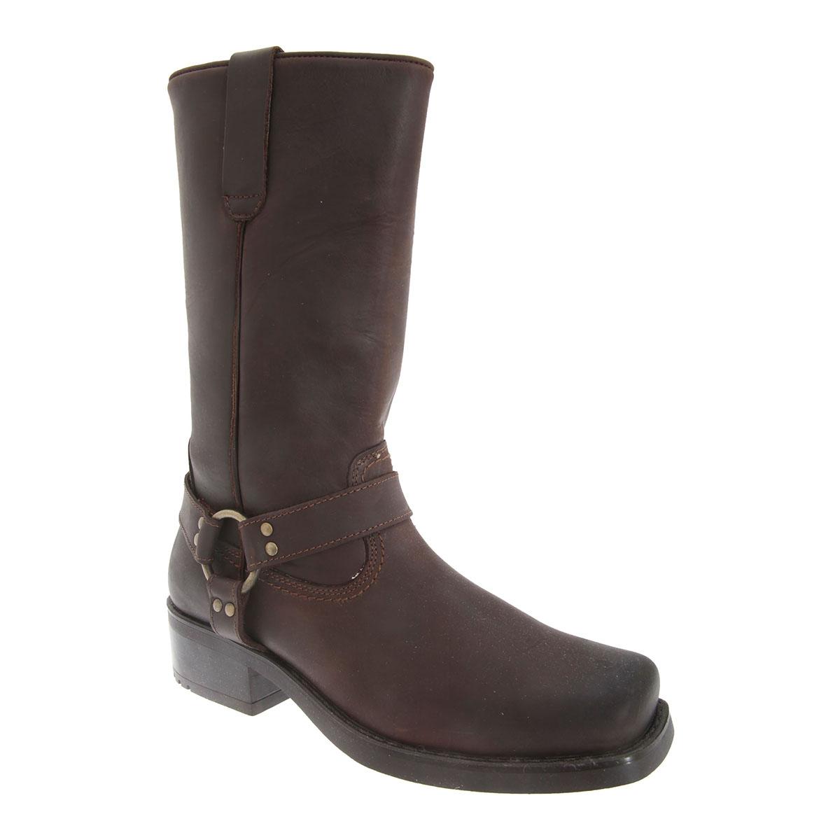 (ウッドランド) Woodland メンズ ハイカット ハーレー ウェスタン レザー ハーネスブーツ 紳士靴 カジュアルブーツ 男性用 【海外直送】