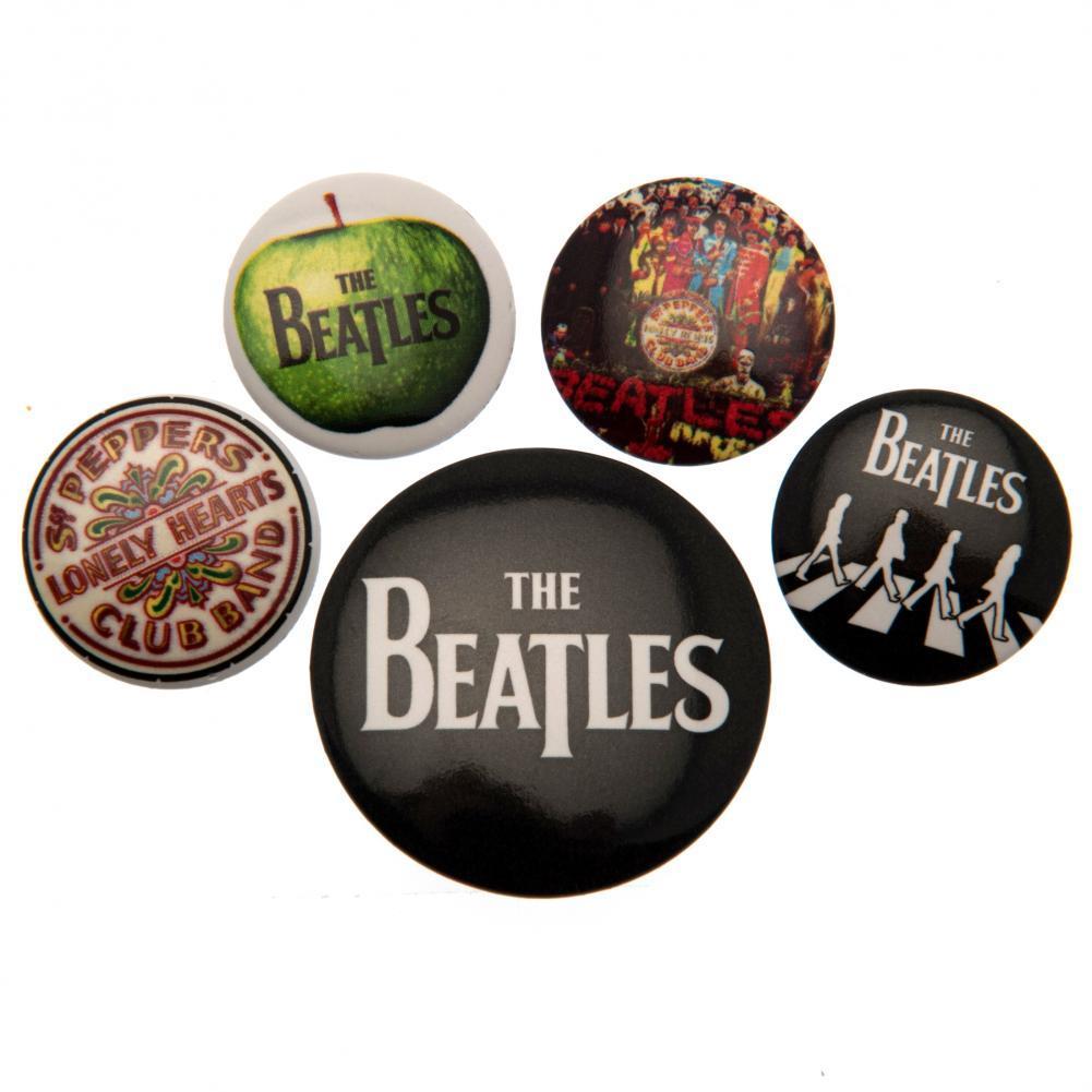 バンド ブローチ バッジ ピンバッジ 賜物 アクセサリー ザ ビートルズ オフィシャル商品 Beatles 5個セット 缶バッジ ロゴ 高価値 The 海外直送