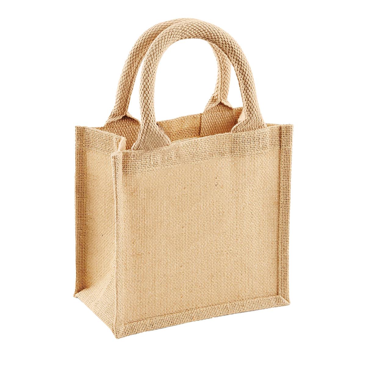 マイバッグ エコバッグ 手提げ スーパー ショッピング (ウエストフォード・ミル) Westford Mill ジュート Petite ギフトバッグ ミニトートバッグ 4リットル 【海外直送】