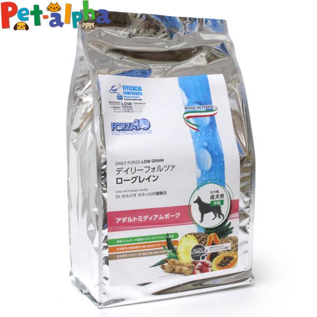 【クーポン配布中】フォルツァディエチ デイリーフォルツァ アダルトミディアム ポーク 中粒 3kg (500g×6袋)