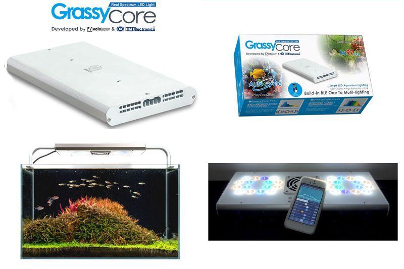 【飼育用品・器具】【照明器具】【LEDライト】Grassy core(グラッシー コア)(淡水用)(メーカー保証付き)