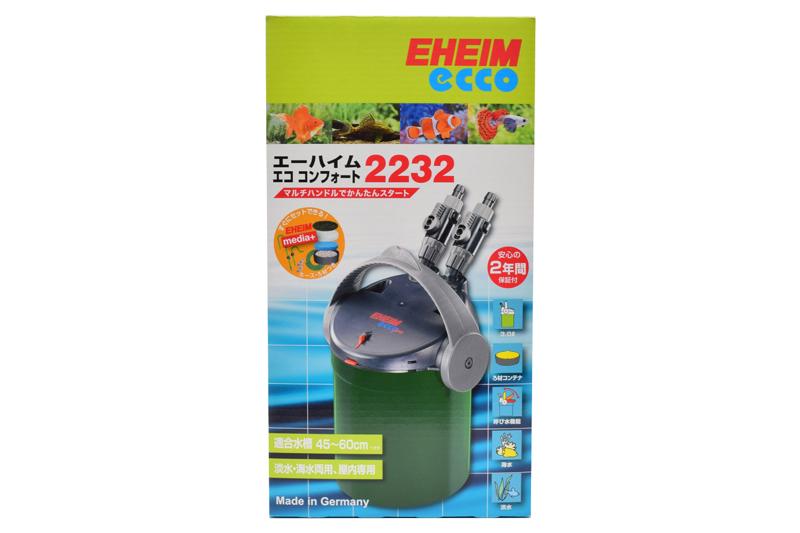 【飼育用品・器具】【フィルター】【外部フィルター】エココンフォート2232(淡水 海水可)(メーカー保証付き)