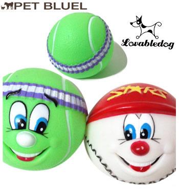音の出るワンちゃん用おもちゃ テニスボールと野球ボールです 犬 おもちゃ ボール 初売り 犬用 コンビニ受取対応商品 情熱セール ラバーボール 玩具 犬用おもちゃ LovableDog