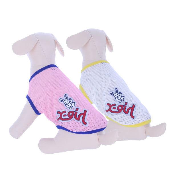フレッシュで元気な配色パイピングのメッシュ素材を使用したタンクトップ 真夏もオシャレでガーリーに そして涼しく過ごせる一着です X-girl 信用 2021 春夏新作 ステッカーメッシュタンク エックスガール 虫よけ クール加工 タンクトップ メッシュ素材 ペットファッション わんちゃん かわいい 犬服 犬グッズ 犬の服 かっこいい 夏服 超歓迎された 通気性