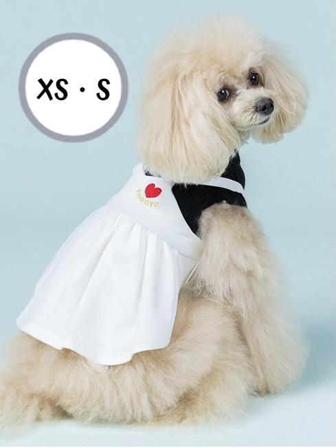 ニットの上にデニムワンピースを合わせたワンピース 重ね着風で一枚でオシャレに見えます デニムワンピにチュールを合わせて さりげなく入ったハートの刺繍もポイントです 送料無料 ☆2021 AW☆TINOTITO アンサンブル風ワンピ XS Sサイズ ティノティート 袖あり 犬服 ドッグファッション おしゃれ ドッグウェア おもしろ 2021新作 おそろい お値打ち価格で 犬の服 お出かけ 秋冬 POP かわいい