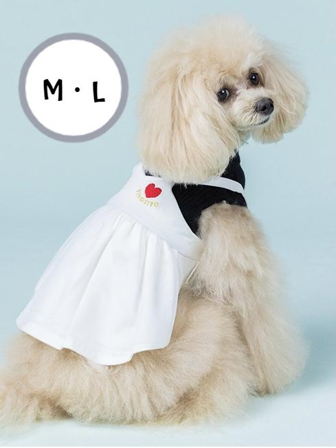 ニットの上にデニムワンピースを合わせたワンピース 舗 重ね着風で一枚でオシャレに見えます デニムワンピにチュールを合わせて さりげなく入ったハートの刺繍もポイントです ☆2021 AW☆TINOTITO アンサンブル風ワンピ M Lサイズ ティノティート 袖あり 犬服 POP おもしろ 2021新作 ラッピング無料 お出かけ ドッグウェア 犬の服 おそろい 秋冬 ドッグファッション おしゃれ かわいい