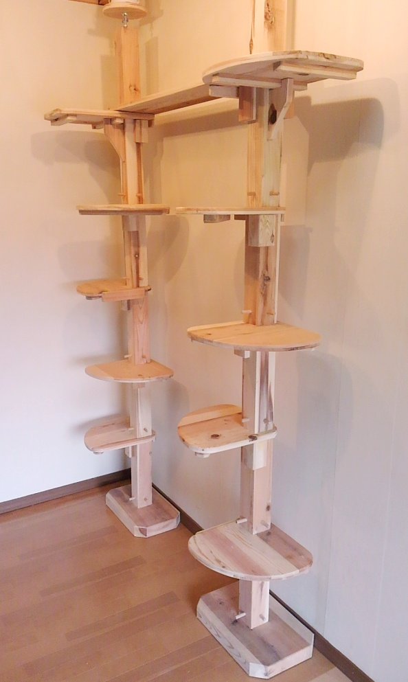 Wood Cat Furniture Part - 24: Products Cedar Cat Cat Tower Prop Wood Thatu0027s Domestic Natural Wood Cheap  Slim Stylish Pet Products