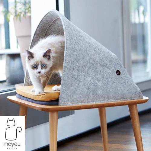 【MEYOU】 THE BED ザ ベッド 猫 キャットハウス ペット ウール フェルト クッション 付属