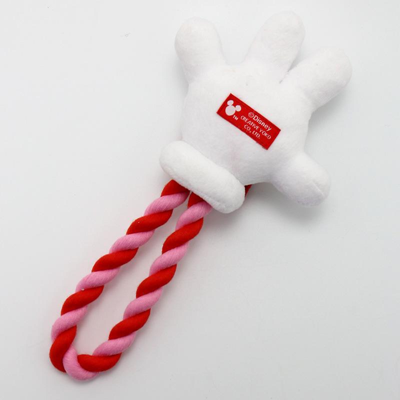 ペットパラダイス ディズニーミニーマウス 手のロープおもちゃ|