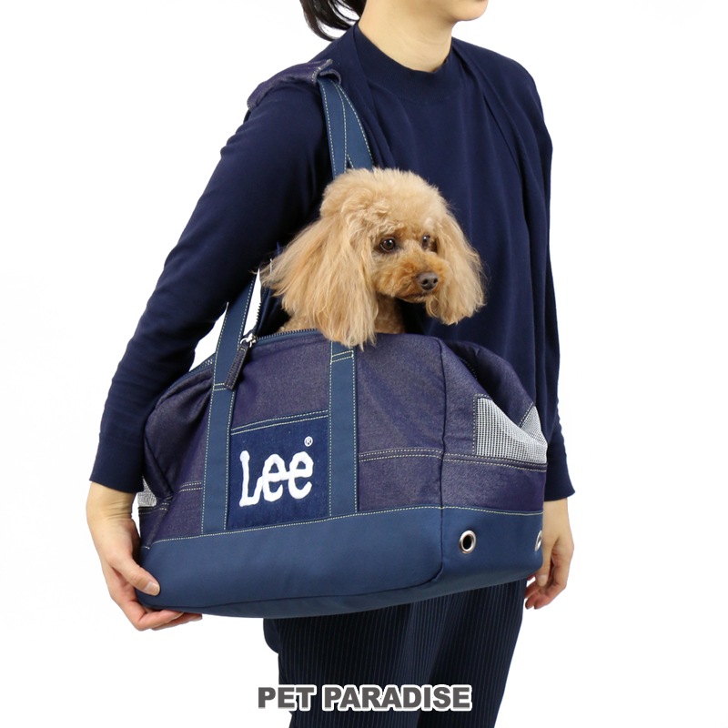 【クーポン利用で1000円OFF】送料無料 Lee デニム風 BOX キャリーバッグ【小型犬】   ショルダー おしゃれ かわいい 猫
