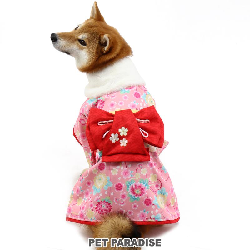 ペットパラダイス 着物 桃のみ【中・大型犬】 |  犬の服 ドッグ いぬ イヌ ドック 犬服 犬用品 ペット用品 中型犬 大型犬