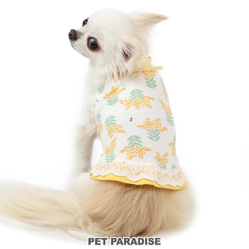 初売り 犬服 犬用品 期間限定お試し価格 ペットグッズ ペットウェア ペットパラダイス クーポン利用で300円OFF 犬 服 タンクトップ ドッグウェア ドッグウエア おしゃれ メール便可 小型犬 かわいい ミモザ柄 イヌ