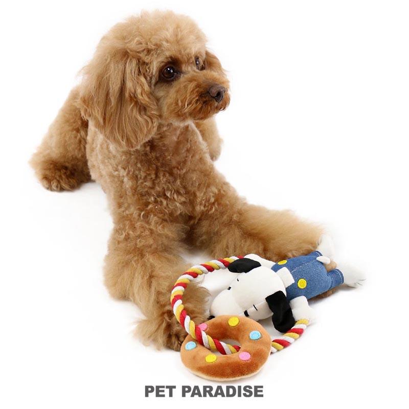 犬用品 ペットグッズ 犬 おもちゃ ペットパラダイス ロープ スヌーピー 5☆好評 ドーナツ トイ TOY おうちで遊ぼう おうち時間 かわいい 小型犬 インスタ映え オモチャ 玩具 ペットのペットトイ キャラクター 優先配送 おもしろ