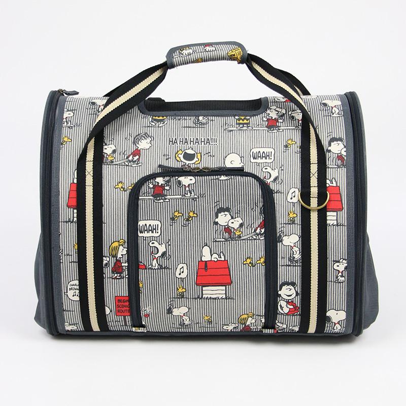 【送料無料】ペットパラダイス スヌーピー ファミリー柄 折畳み リュックキャリーバッグ| 犬 キャリーバッグ リュック ペット キャリーバッグ