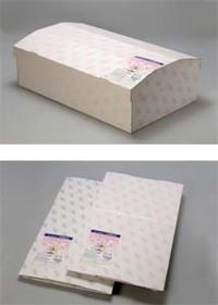 ペット供養 ペット仏具 水玉柄グレー ペット棺 中型 31.5cm 実物 紙製 GM 上質 サイズ長さ75×幅47.5×高さ25